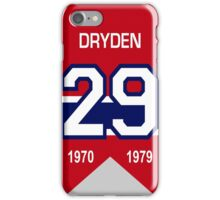 Kenny Dryden - retired jersey #29 iPhone Case/Skin