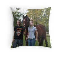 The Three of Them Throw Pillow