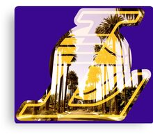 Lakers Silhouette  Canvas Print