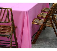 Pink Tablecloth Photographic Print