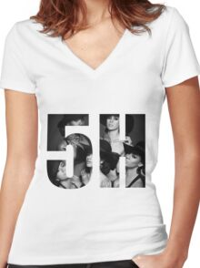 Fifth Harmony 5H Reflection Women's Fitted V-Neck T-Shirt