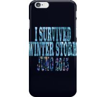 I Survived Winter Storm Juno 2015 iPhone Case/Skin
