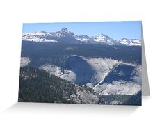 Panoramic View of Yosemite Valley Greeting Card
