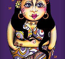 Matryoshka On Holiday Purple & Single by © Karin Taylor