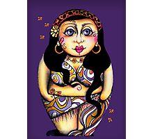 Matryoshka On Holiday Purple & Single Photographic Print