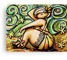 Beach Betty Canvas Print