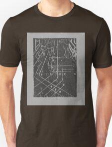 computer chip sidewalk, in grey Unisex T-Shirt