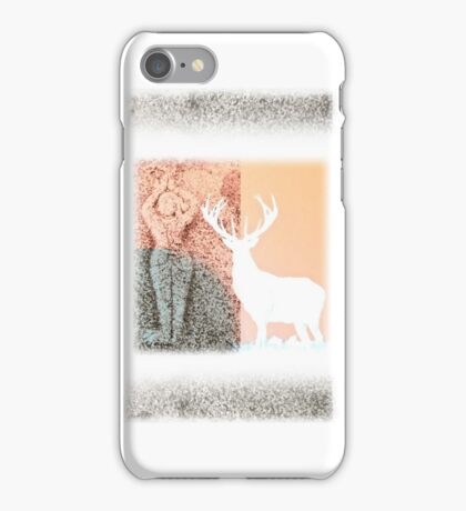 Gaia and the Stag - Salmon iPhone Case/Skin