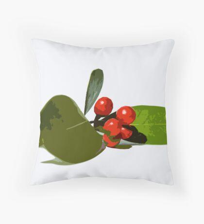 Christmas berries 2 Throw Pillow