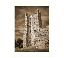 Ruins of Hyeres Castle... Art Print