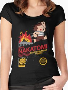 Super Nakatomi Tower Women's Fitted Scoop T-Shirt