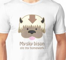 My Sky Bison Ate my Homework Unisex T-Shirt