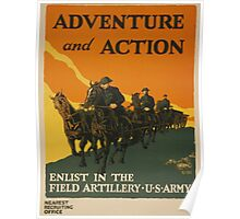 Adventure and Action (Reproduction) Poster