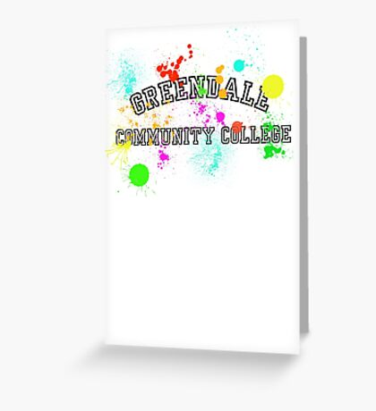 Greendale Community College - Paintball Greeting Card