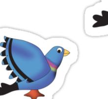 Flying Pigeons Sticker