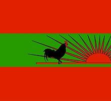 UNITA Flag of Angola  by abbeyz71