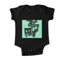 black and aqua street signs One Piece - Short Sleeve