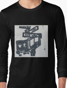 black and silver street signs Long Sleeve T-Shirt