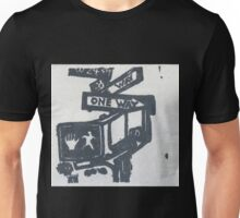 black and silver street signs Unisex T-Shirt