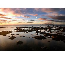 Candy clouds, chocolate rocks Photographic Print