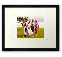 Ladies Legs Framed Print