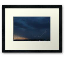 Severe Summer weather Framed Print