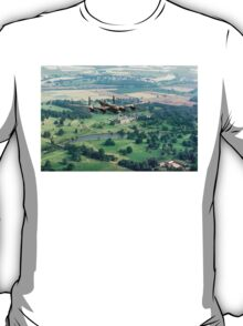 """Lancaster B.1 """"City of Lincoln"""" over Burghley House T-Shirt"""