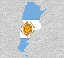 Flag Map of Argentina  T-Shirt