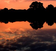 Lake at Sunset by Tristan Drinkwater