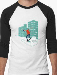 Inner city skater Men's Baseball ¾ T-Shirt