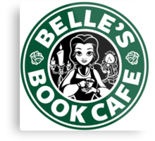 Belle's Book Cafe Metal Print