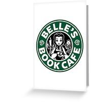 Belle's Book Cafe Greeting Card