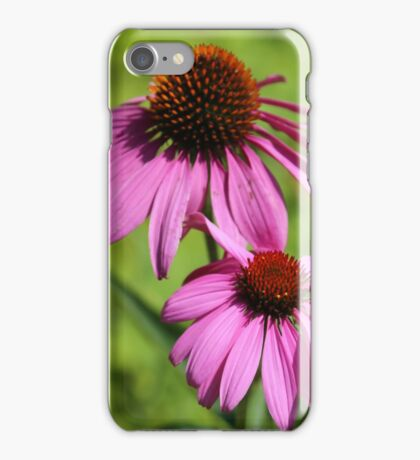 Pink summer flowers iPhone Case/Skin