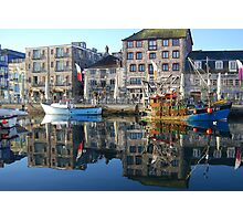 Plymouth Barbican Harbour and Fishing Boats Photographic Print