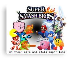 NES vs. Wii U/3DS 'Never Old' Sticker Canvas Print