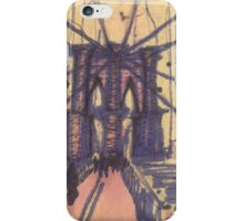 brooklyn bridge, front view iPhone Case/Skin
