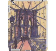 brooklyn bridge, front view iPad Case/Skin