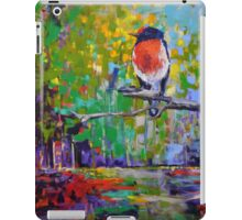 Red Crested Robin in Paradise  iPad Case/Skin