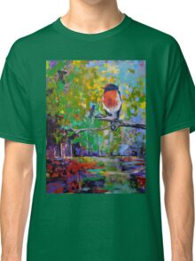 Red Crested Robin in Paradise  Classic T-Shirt