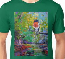Red Crested Robin in Paradise  T-Shirt