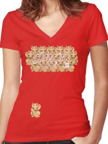 Lucky Cat? Women's Fitted V-Neck T-Shirt