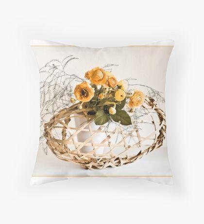 Ikebana-039 Greeting Card Throw Pillow