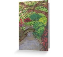 bk botanic garden bridge Greeting Card