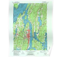 Maine USGS Historical Map Bath 807781 1980 24000 Poster
