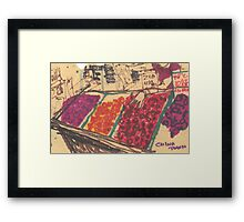 chinatown fruit stand Framed Print