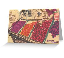 chinatown fruit stand Greeting Card
