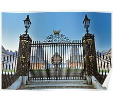 Royal Naval College Gates Poster