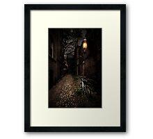 Cobblestone Lane Framed Print