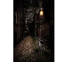 Cobblestone Lane Photographic Print