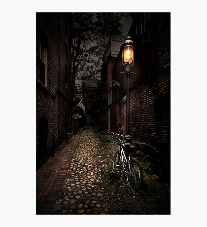 Cobblestone Lane Photographic Print